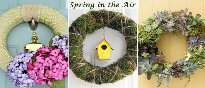 give an eye catching look to your room using wreaths in spring, crafts, wreaths