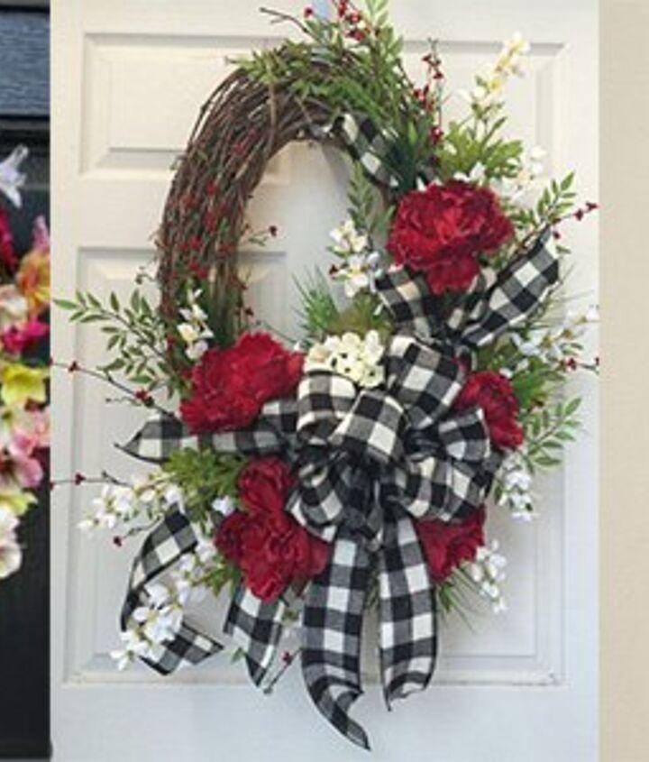 Hang a Wreath over a Plaque
