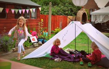 Quick Outdoor Kids Tent Idea