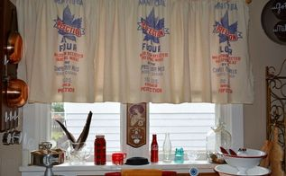 flour sack curtains, how to, repurposing upcycling, window treatments, windows