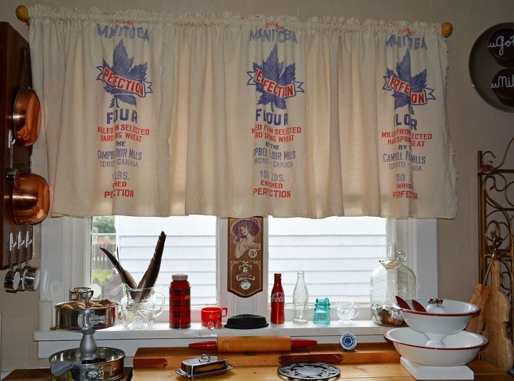 Flour Sack Curtains How To Repurposing Upcycling Window Treatments Windows