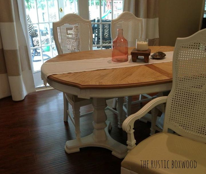 Vintage Dining Table and Cane Chairs Transformation | Hometalk