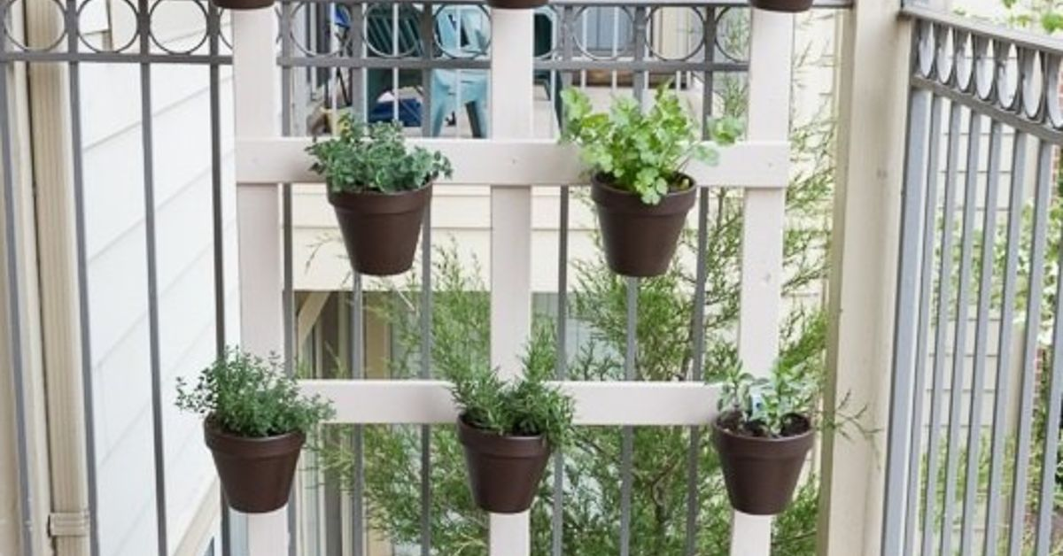 My DIY Vertical Balcony Garden