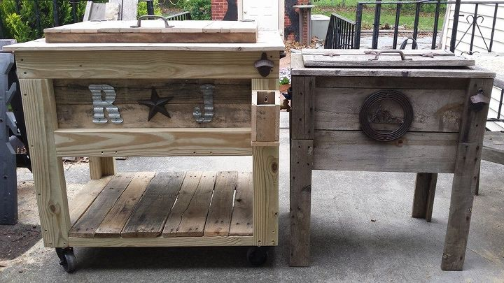 our version of a rustic cooler, diy, outdoor furniture, outdoor living, rustic furniture, woodworking projects
