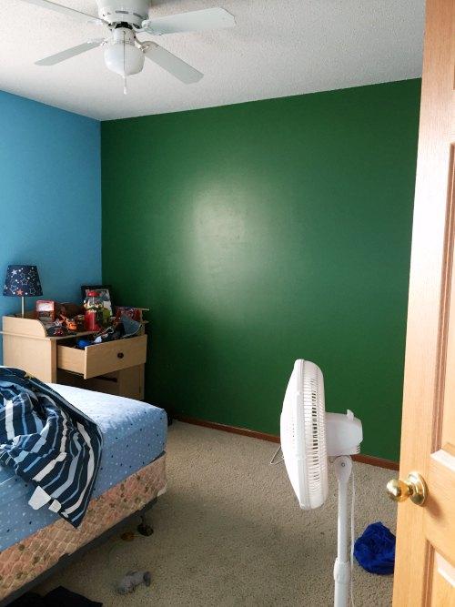 diy football field wall, bedroom ideas, crafts, wall decor