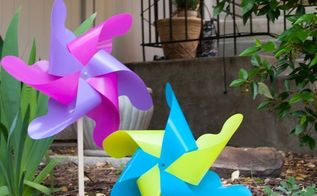 easy diy giant outdoor pinwheels, crafts, gardening, outdoor living
