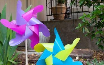 Easy DIY Giant Outdoor Pinwheels