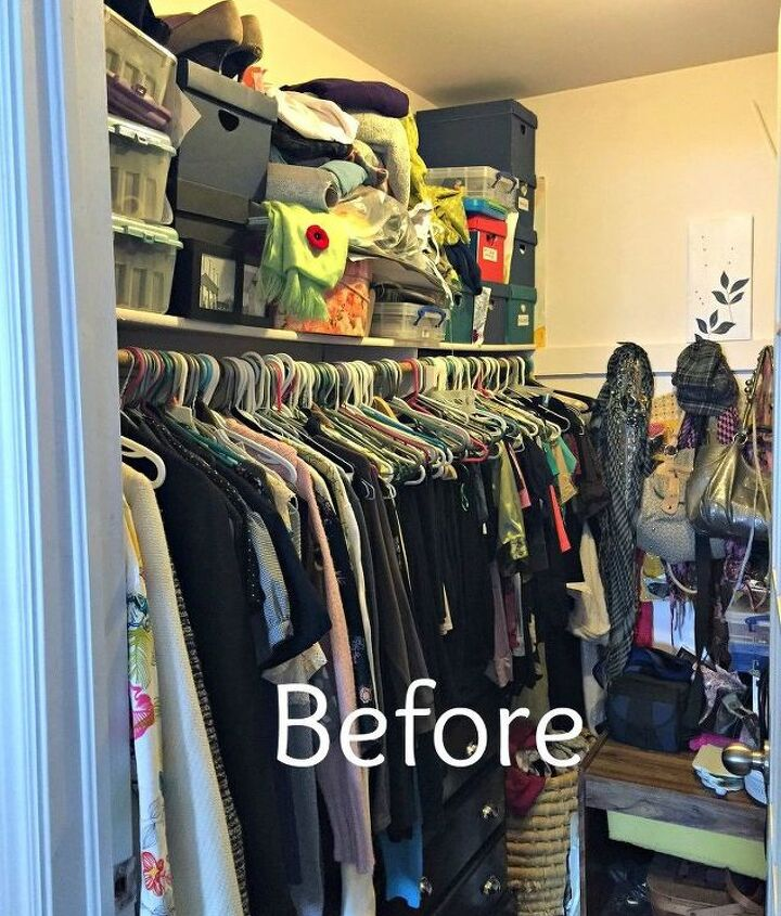 master bedroom closet makeover, bedroom ideas, closet, organizing, painting