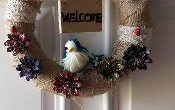 Bird and Burlap Wreath