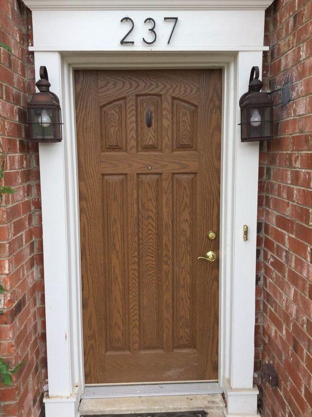 q choosing a front door color but there s an issue, doors, The door in normal light