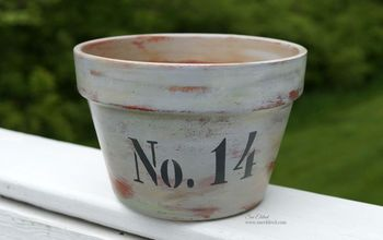 how to age a terra cotta pot with chalky finish paint, container gardening, crafts, gardening