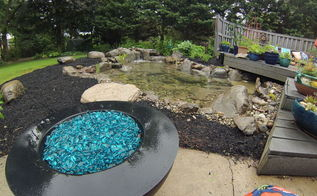 out with the old pond in with the new, outdoor living, ponds water features