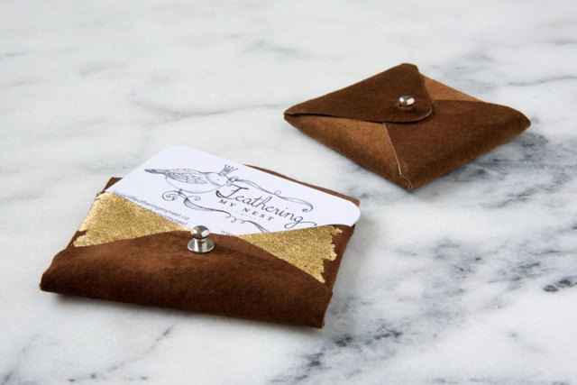 leather coat to business card holders , crafts, how to, repurposing upcycling