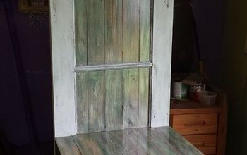 i spit on some pallets and i liked it , painted furniture, pallet, rustic furniture, woodworking projects