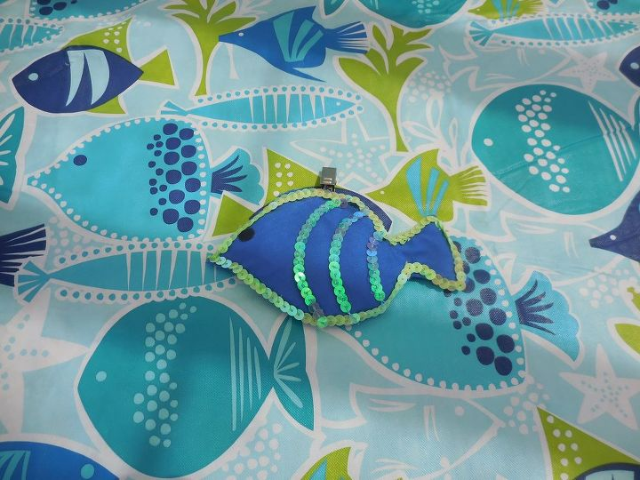fish tablecloth clip, crafts, how to, outdoor living