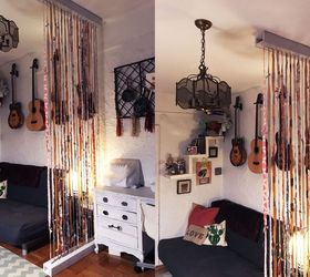 Suspended Fabric Wall Room Divider, Bedroom Ideas, How To, Wall Decor,  Woodworking