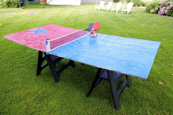 s 13 crazy fun yard games your family will flip for this summer, outdoor living, Craft a large ping pong table