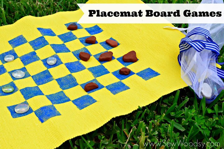s 13 crazy fun yard games your family will flip for this summer, outdoor living, Turn an old placemat into a game board