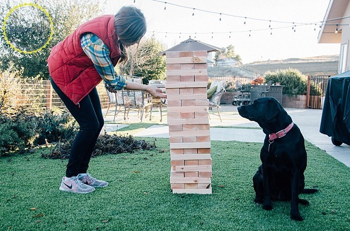 s 13 crazy fun yard games your family will flip for this summer, outdoor living, Build a lifesize jenga set