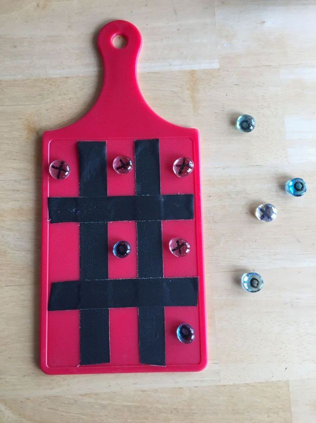 s 13 crazy fun yard games your family will flip for this summer, outdoor living, Make tic tac toe from a cheap cutting board
