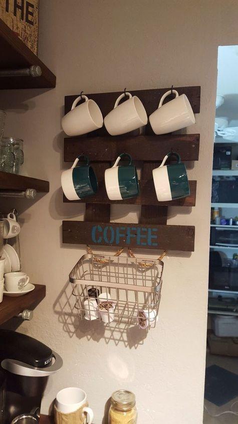 coffee mug k cup holder, crafts, kitchen design
