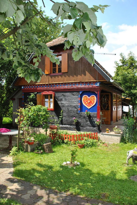 traditional croatian wooden house spring update, home decor, rustic furniture