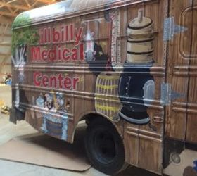 Bon Shaw Hillbilly Bus, Painted Furniture, Painting
