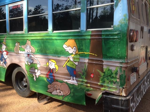 shaw hillbilly bus, painted furniture, painting