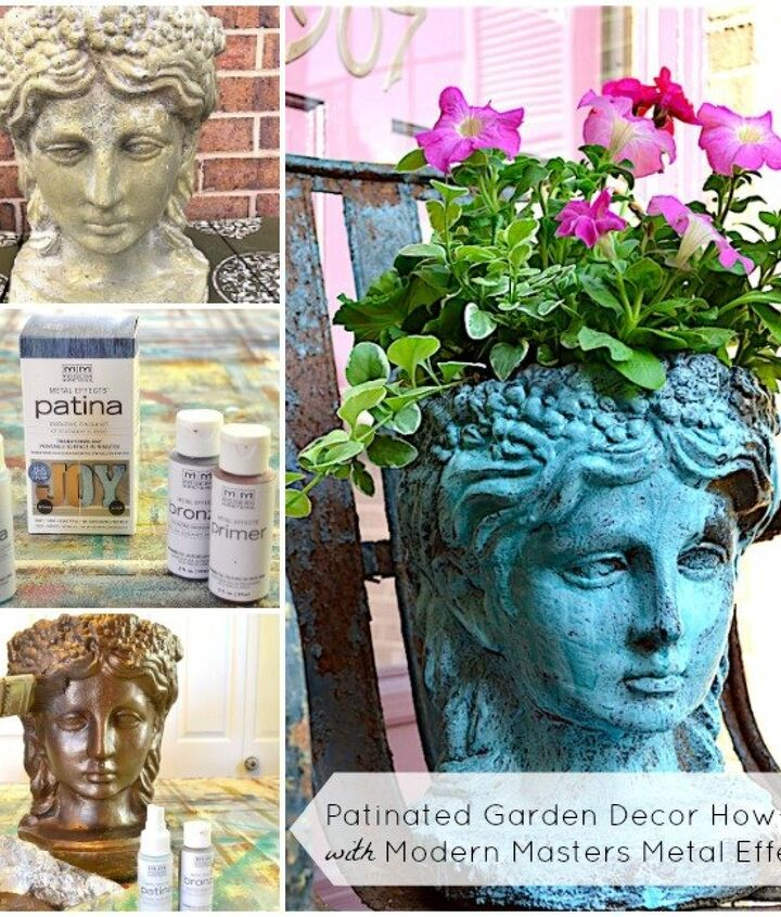 summer garden decor how to with metal effects kits, container gardening, crafts, gardening