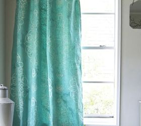 Stencil Dye Your Own Drop Cloth Curtain, Chalk Paint, How To, Painting,
