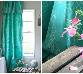 stencil dye your own drop cloth curtain chalk paint how to painting