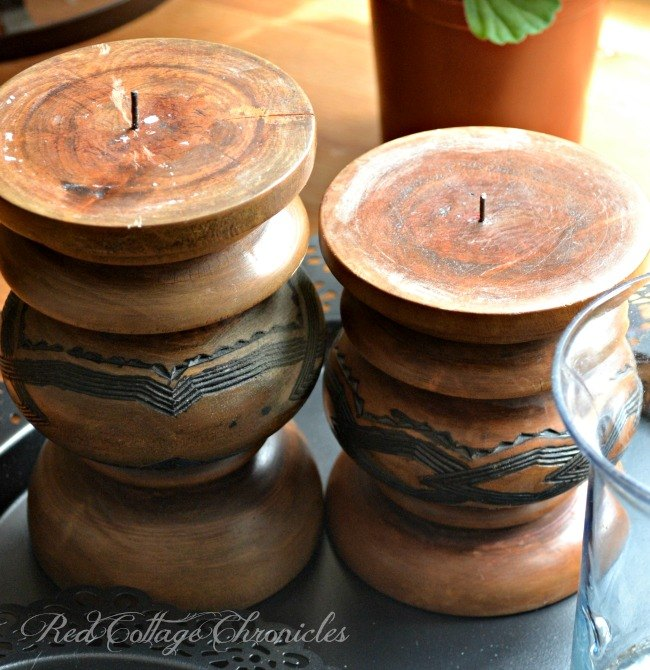 thrift store upcycled candlestick project, chalk paint, crafts, repurposing upcycling