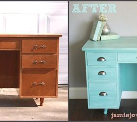 Annie Sloan Provence Desk Remodel, Chalk Paint, Painted Furniture, Shabby  Chic