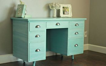 Annie Sloan Provence Desk Remodel