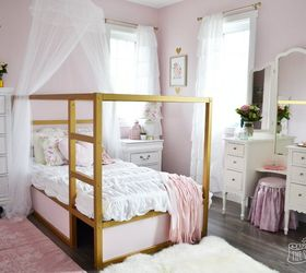 A Shabby Chic Glam Little Girl S Bedroom Makeover In Pink Gold, Bedroom  Ideas, ...