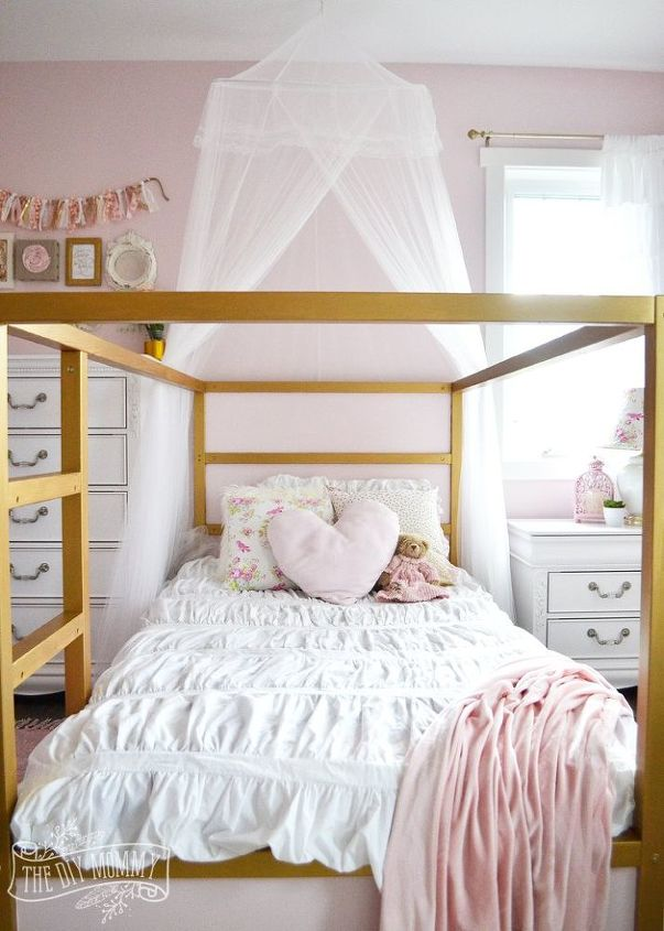 surprising shabby chic girls bedroom ideas | A Shabby Chic, Glam Little Girl's Bedroom Makeover in Pink ...