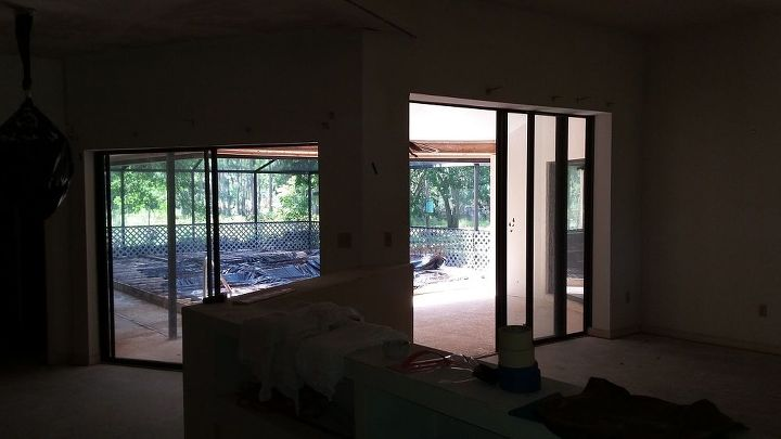 q window dressing for sliding doors with 2 difference in height, doors, window treatments, windows
