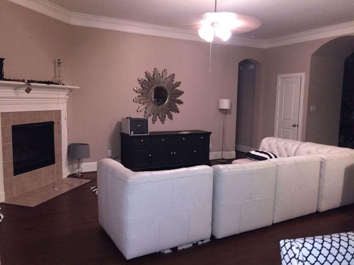 q soften room, fireplaces mantels, home decor, home decor dilemma, lighting, living room ideas