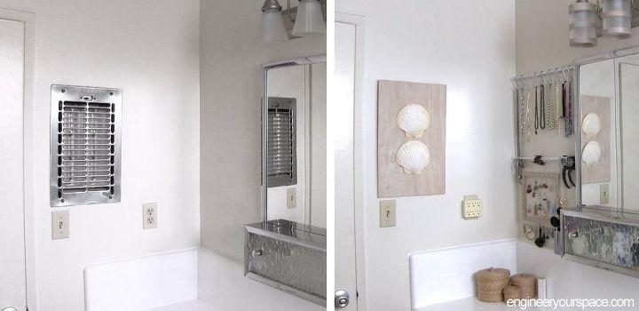 seashell bathroom decor. diy wall art with shells bathroom decorating ideas  crafts how to DIY Wall Art With Shells Bathroom Decorating Ideas Hometalk