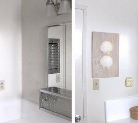 Diy Wall Art With Shells Bathroom Decorating Ideas, Bathroom Ideas, Crafts,  How To