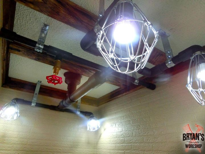 pipe lights on the ceiling , lighting, small bathroom ideas, wall decor