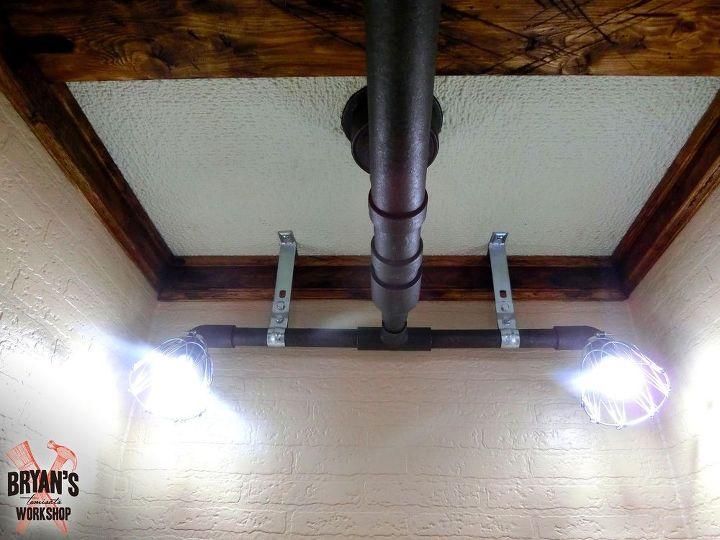 Industrial lighting idea pipe lights on the ceiling hometalk pipe lights on the ceiling lighting small bathroom ideas wall decor aloadofball Gallery