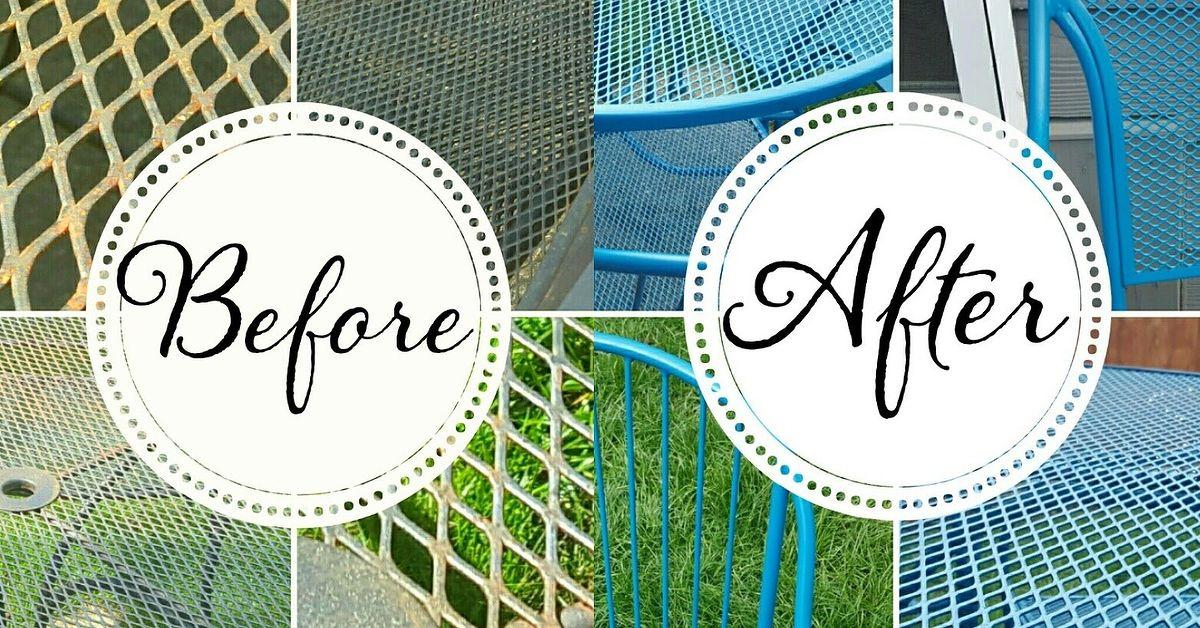 How To Refinish Wrought Iron Patio Furniture Hometalk