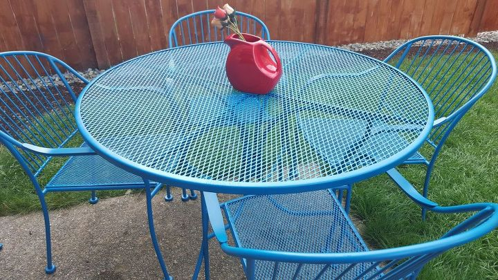 how to refinish wrought iron patio furniture, how to, outdoor furniture, painted furniture