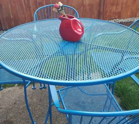 How To Refinish Wrought Iron Patio Furniture, How To, Outdoor Furniture,  Painted Furniture ...