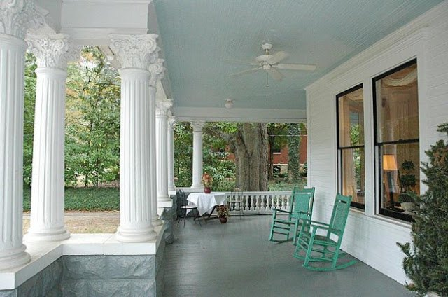 I M Going To Paint The Porch Ceiling Haint Blue Outdoor Living Painting Porches