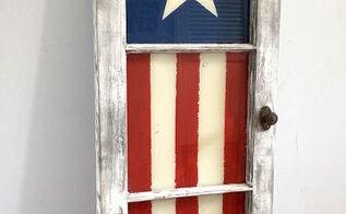 patriotic window, patriotic decor ideas, seasonal holiday decor, windows