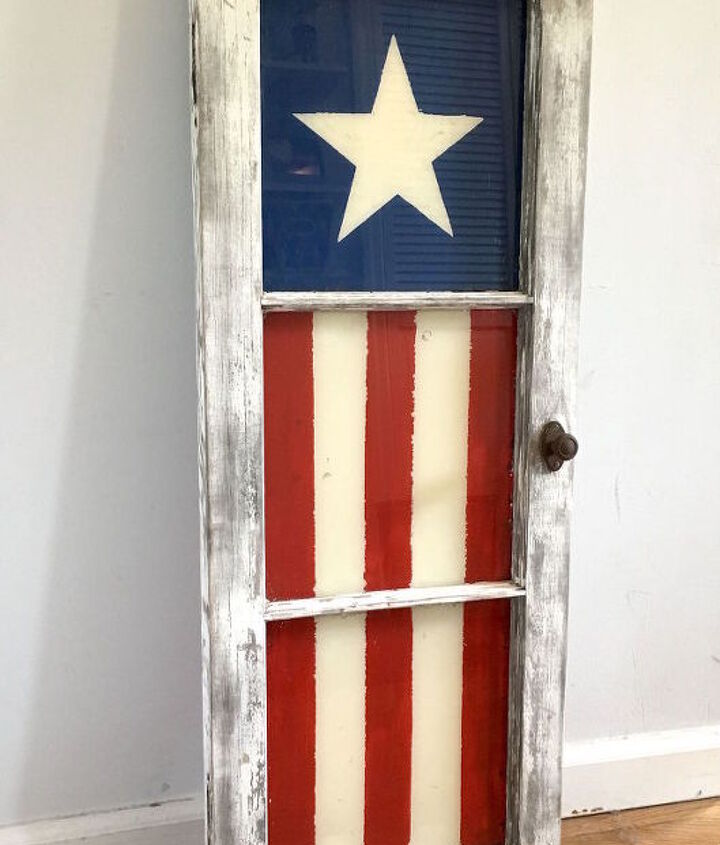 patriotic window, patriotic decor ideas, seasonal holiday decor, windows