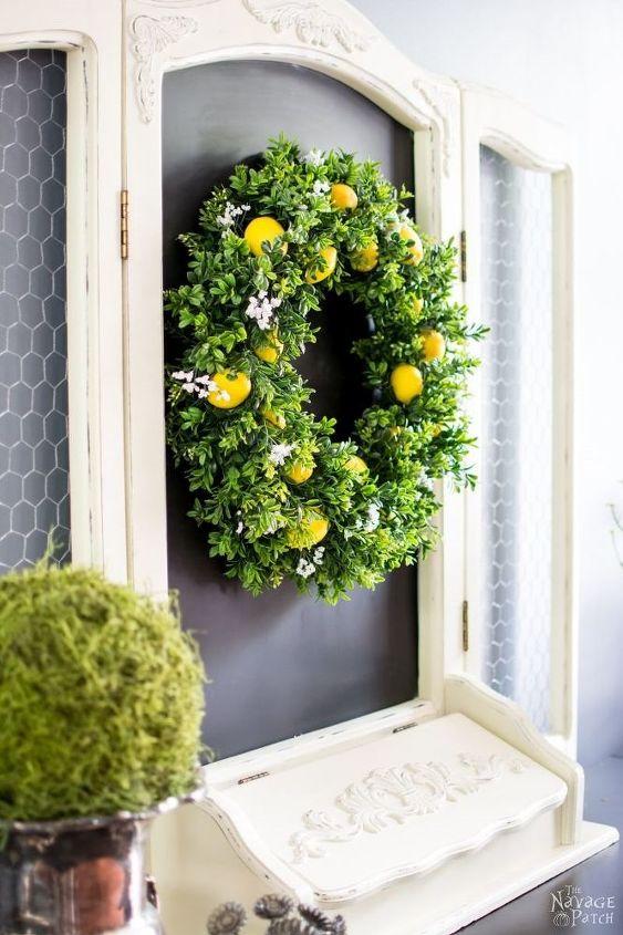 summer lemon wreath with lemon scent , crafts, diy, home decor, outdoor living, wreaths