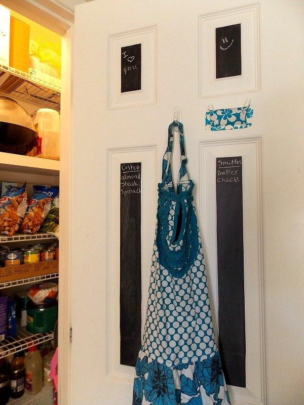 s 10 things pro organizers keep in their pantry all year long, closet, kitchen design, organizing, Chalkboard Paper